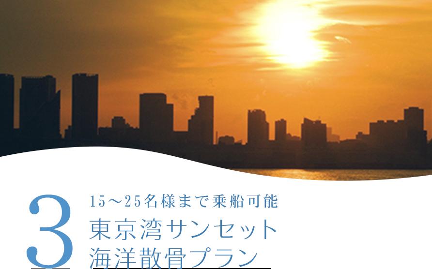 3 東京湾サンセット海洋散骨プラン